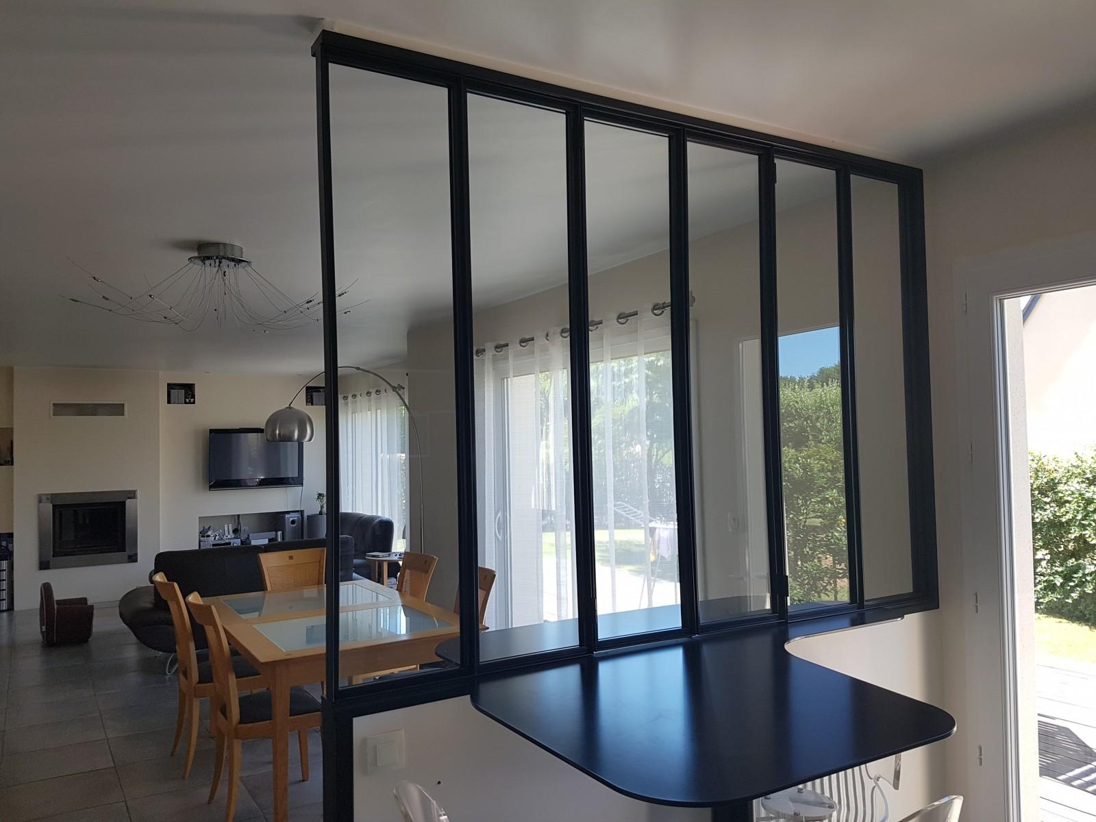 Cloison vitr e d atelier for Verriere cloison vitree