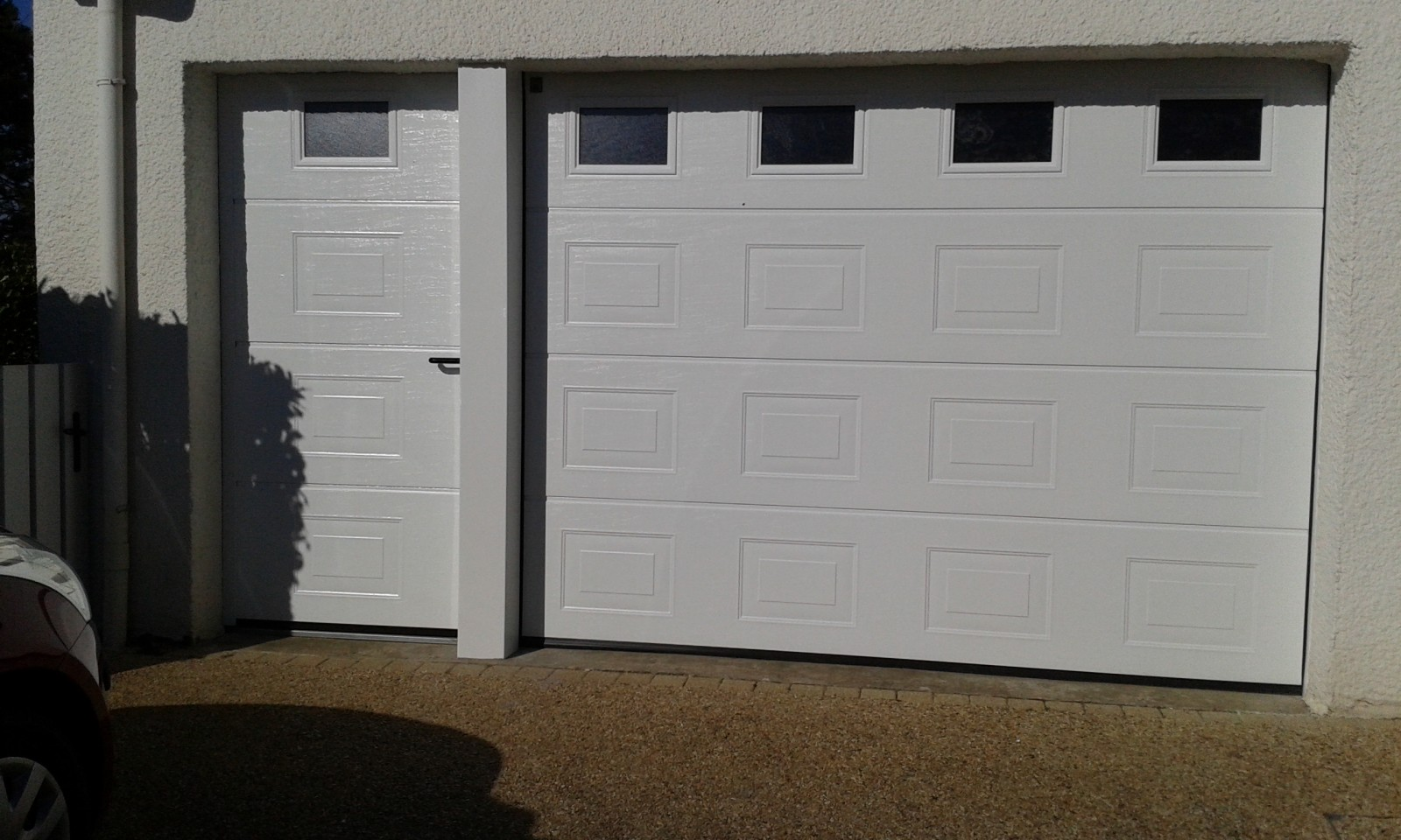 Porte de garage sectionnelle manuelle ou motoris e - Porte garage sectionnelle manuelle ...