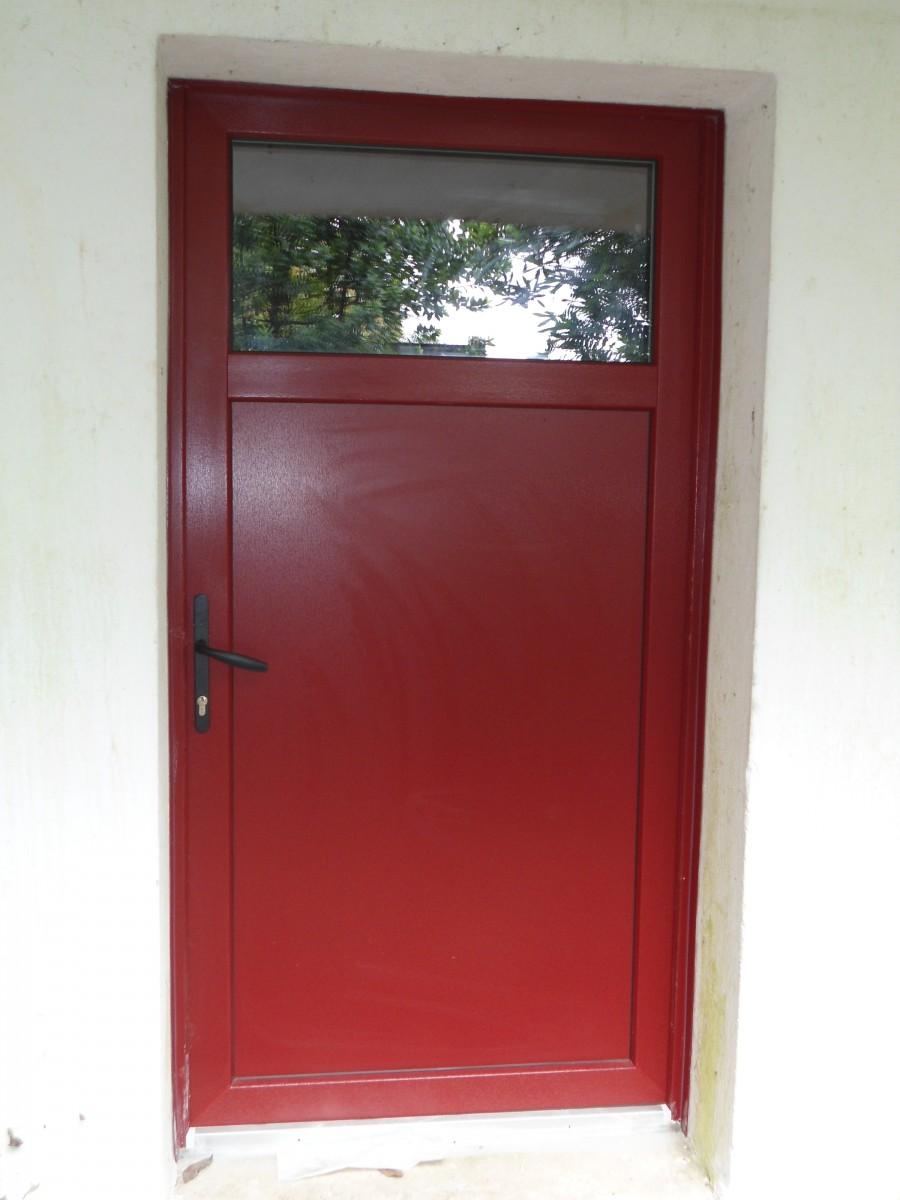 Perfect porte de service pvc anthracite with porte de - Porte de service pvc anthracite ...