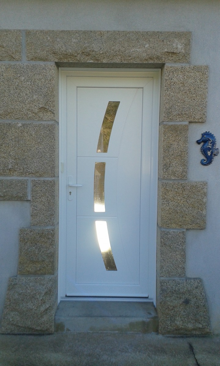 Porte d 39 entr e for Decoration porte aluminium