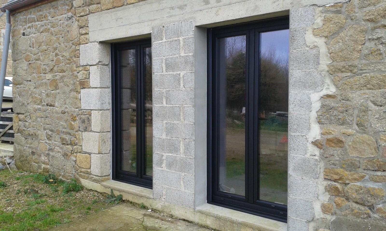 Porte fen tre alu menuiserie aluminium sur mesure - Porte fenetre 4 vantaux ...