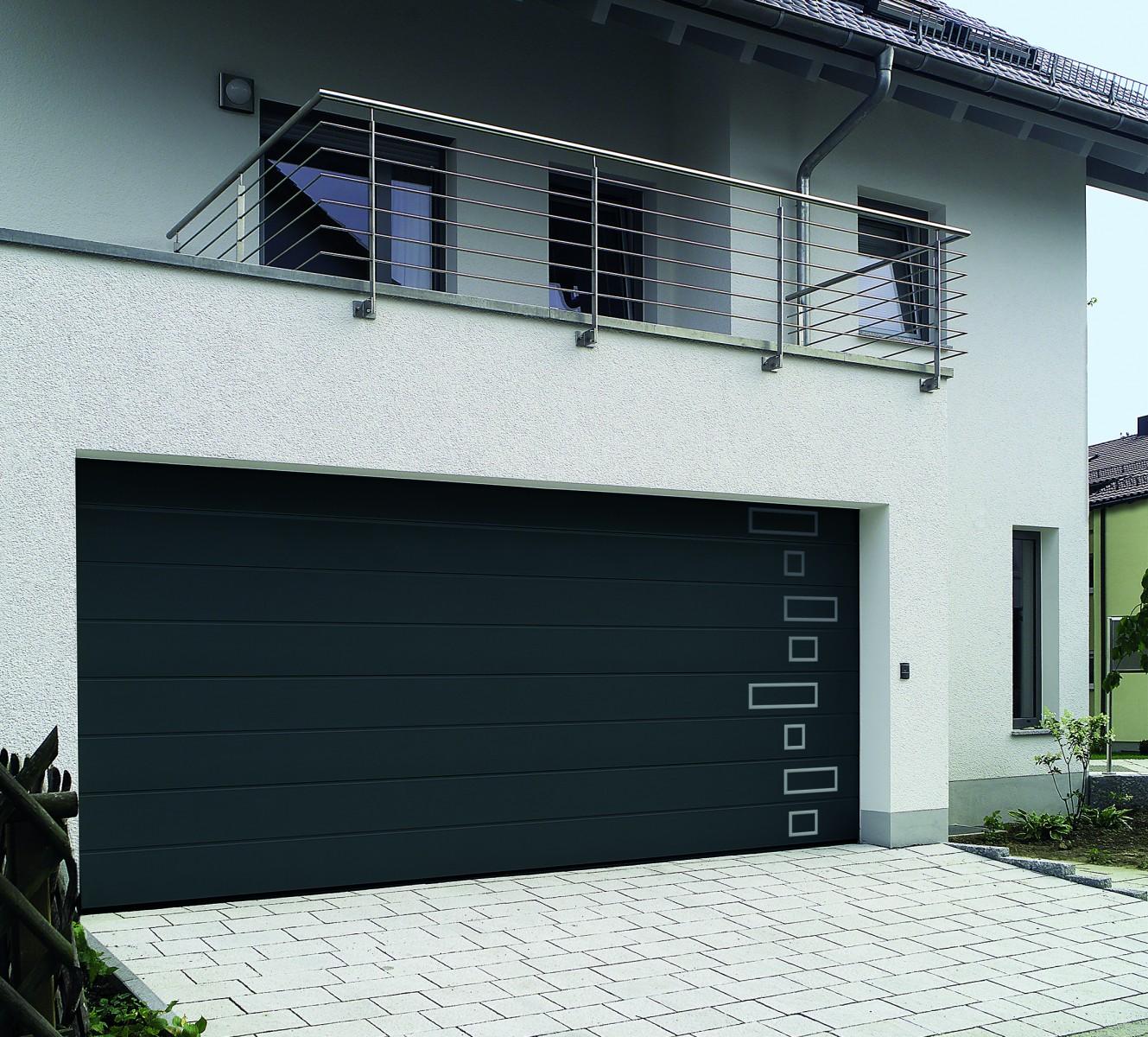 Porte de garage sectionnelle manuelle ou motoris e - Porte de garage electrique ...