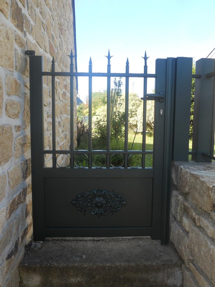 Portillon alu for Portillon terrasse