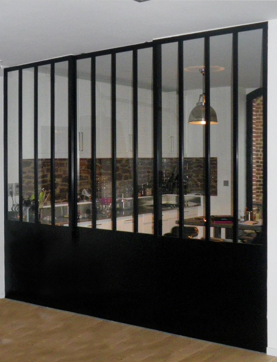 Cloison vitr e d atelier for Cloison style verriere
