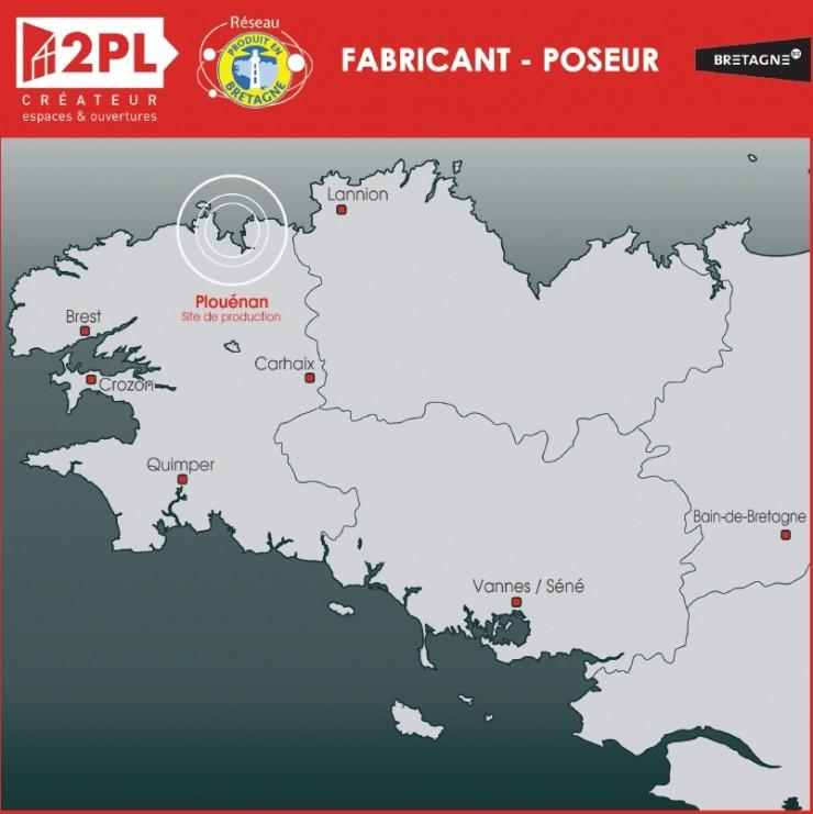 Carte agences 2PL