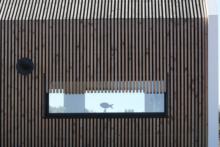 Fenêtre alu ossature bois bardage bois