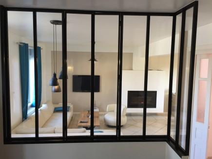 2PL: verrière acier style atelier d\'artiste ou cloison vitrée
