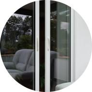 baie vitrée coulisante aluminium avec galandage