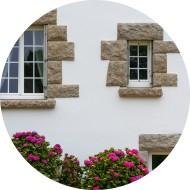 persiennes pliantes en pvc - 2 vantaux - fenêtres avec petits bois incorporés