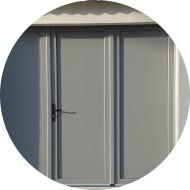 porte de garage battante pvc pleine - remplissage lisse - teinte gris argent