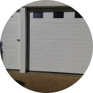 porte de garage sectionnelle plafond avec portillon indépendant