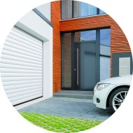 porte de garage à enroulement - motorisée