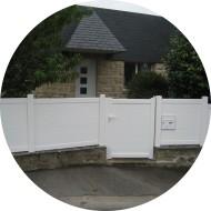 portillon battant aluminium - remplissage lambris horizontal - blanc