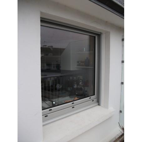 fenêtre teinte aluminium naturel - 1 vantail - ouverture à la française