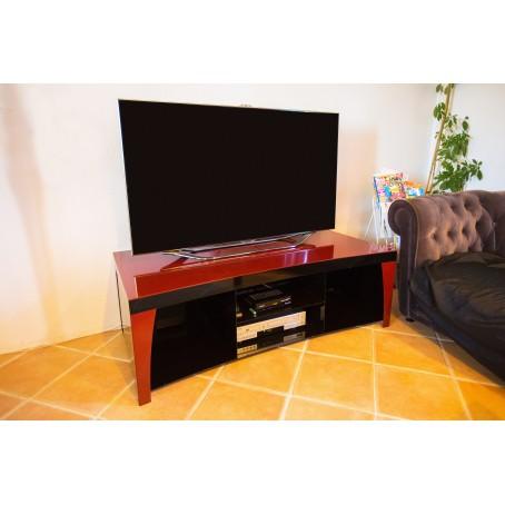 Meuble de salon en acier - thermolaqué rouge et noir