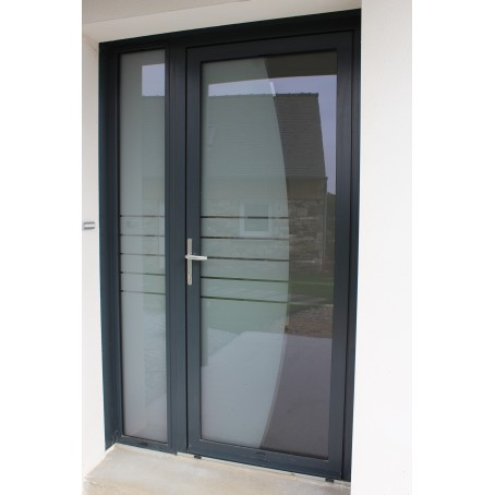 Porte d 39 entr e alu for Porte 2 battants interieur