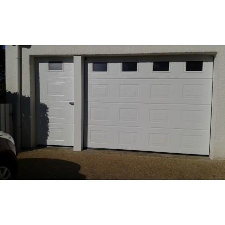 Porte De Garage Sectionnelle Manuelle Ou Motorisée - Porte de garage sectionnelle avec poignée de porte pvc a clé