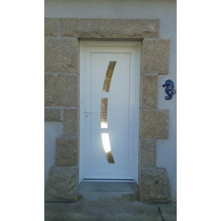 Porte Dentrée PVC - Porte avec vitre
