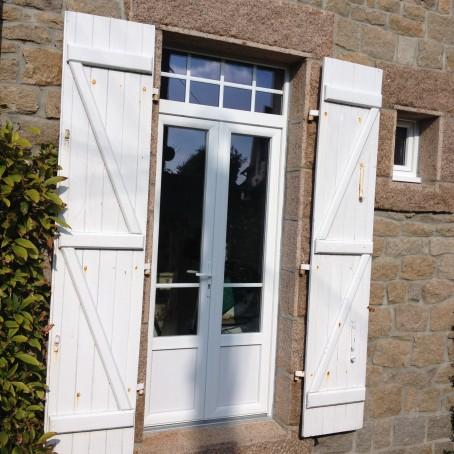 Porte fen tre pvc 2pl for Porte 2 vantaux bois