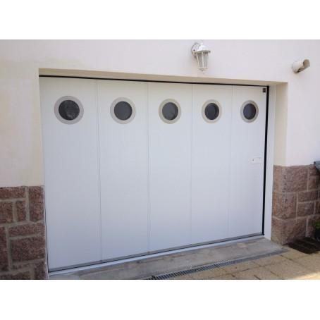 Porte De Garage Coulissante Latérale Isolée I Manuelle Ou électrique - Porte de garage sectionnelle avec porte de service pvc occasion