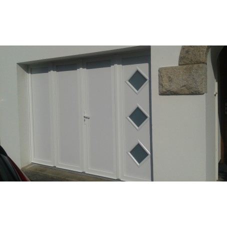 Porte de garage battante et portillon int gr ouverture for Ouverture pvc
