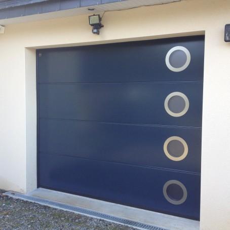 Porte de garage sectionnelle manuelle ou motoris e - Hublots porte de garage ...