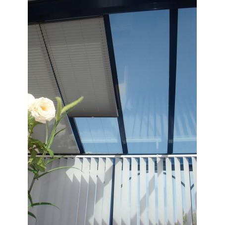 store plissé de toiture - idéal pour espaces restreints
