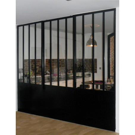 Cloison vitre cuisine cloison verre metal cloisons amovibles maison pour sparer sans cloisons - Leroy merlin brignais ...