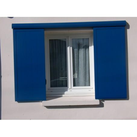 volets aluminium coulissants sur rail mural. Black Bedroom Furniture Sets. Home Design Ideas