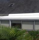 Volet roulant électrique blanc - toiture véranda