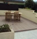 aménagement d'une terrasse de couleur brun noisette