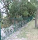clôture grillagée verte