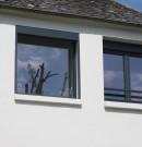 ensemble de châssis fixe et fenêtres 2 vantaux - ouverture à la française - gris anthracite