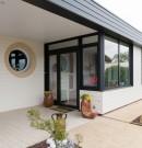 extension à toit plat en ossature bois