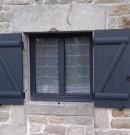 fenêtre aluminium avec ouverture à la française - 2 vantaux - gris anthracite
