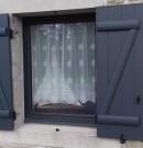 fenêtre 1 vantail et ouverture à la française - gris anthracite